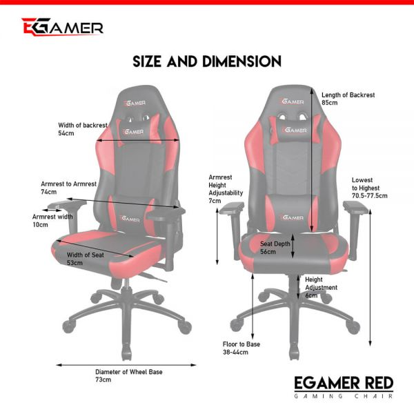 Egamer gaming chair RED Cijena
