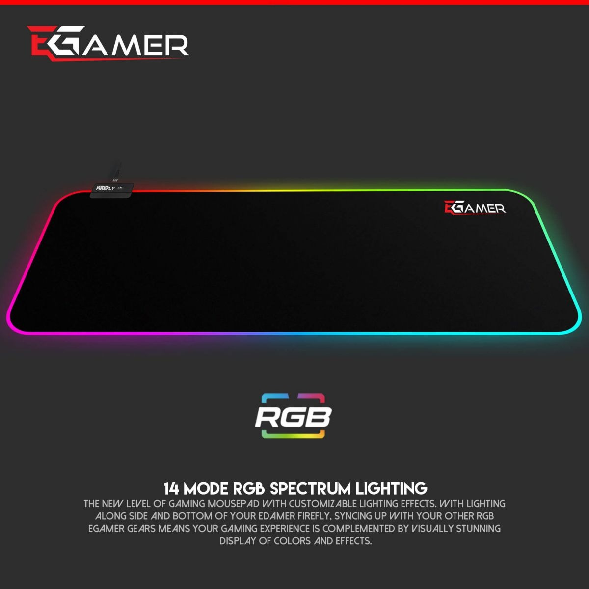 FIREFLY MMR800 RGB Mouse Pad